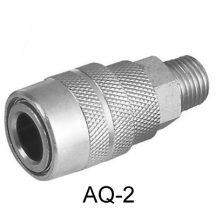 """Levegős gyorscsatlakozó, 1/4"""", US-típus, külső menetes (AQ-2)"""