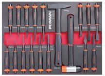 Fiókbetét, Kalapács+Véső készlet, 18 részes, 525x390x45mm (FIXMAN FX-F1.ET05)