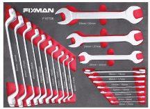 Fiókbetét, Villáskulcs készlet, 20 darabos, 6-32mm, 525x390x55mm (FIXMAN FX-F1.ET06)