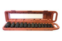 """1/2"""" Gépi Dugókulcs készlet 7/16"""" - 1.1/4"""", hossz: 78mm, 13db-os (SAE)"""