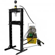 20T Hidraulikus műhelyprés, elektromos tápegységgel, mérőórával, sebességállító szeleppel