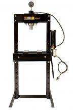 Hidraulikus műhelyprés sűrített levegőhajtású tápegységgel, nyomásmérő órával 30 Tonna