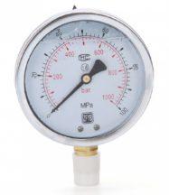 Hidraulikus nyomásmérő (1000Bar, 100mm)