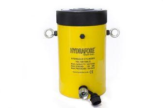 Egyszeres működésű biztosítóanyás hidraulikus munkahenger (100T, 150mm)
