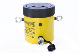 Egyszeres működésű biztosítóanyás hidraulikus munkahenger (100T, 50mm)