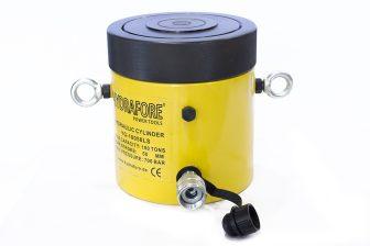 Egyszeres működésű biztosítóanyás hidraulikus munkahenger (100T, 50mm) (YG-10050LS)