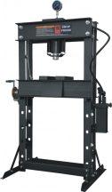 Hidraulikus műhelyprés beépített tápegységgel, nyomásmérő órával 50 Tonna