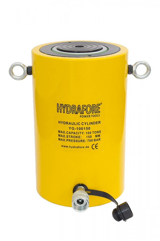 Egyszeres működésű általános hidraulikus munkahenger (100T, 150mm)