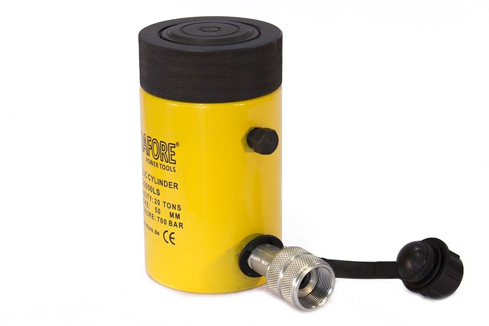 Egyszeres működésű biztosítóanyás hidraulikus munkahenger (20T, 50mm)