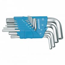 Hajlított imbuszkulcs készlet tartóban 10 részes 1.3-10 mm (GEDORE H 42-10)
