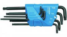 Hajlított csavarkulcs készlet tartóban, 7 részes TORX T10-T40 (GEDORE H 43 KTX-07)