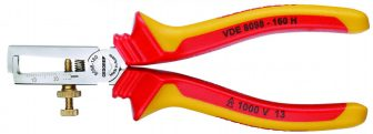 VDE csupaszító fogó köpenyes szigeteléssel (GEDORE VDE 8098-160 H)