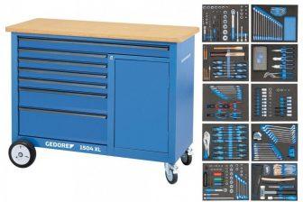 Munkapad 308 részes szerszámkészlettel (GEDORE 1504 XL-TS-308)