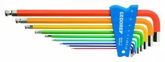 Szines derékszögű imbuszkulcs készlet 9részes (GEDORE H 42 CKEL-09)