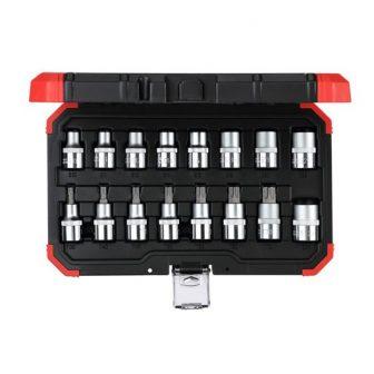 Dugókulcs készlet 1/2'' TX E10-E24 + T30-T70 16 részes (GEDORE R68003016)