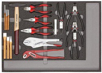 Szerszámkészlet modulban fogók+kalapács 29 részes (GEDORE R22350001)