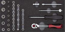 Dugókulcs készlet modulban 1/4'' 4-13 mm 37 részes (GEDORE R22150006)
