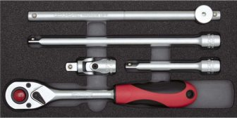 Dugókulcs hajtókar készlet modulban 1/2'' 5 részes (GEDORE R22150008)