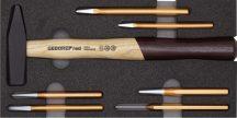 Kalapács és pontozó készlet modulban 7 részes (GEDORE R22150019)