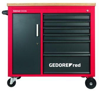 MECHANIC műhelykocsi+satupad 6fiókkal 935x988x431mm (GEDORE R20400006)