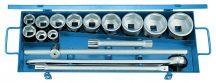 """Dugókulcs készlet, 3/4"""", 16 részes, hatszög, 22-60 mm (GEDORE 32 FMU-2)"""