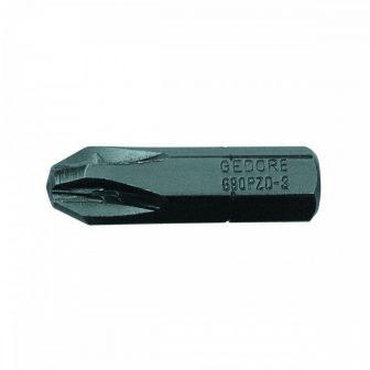 Kereszthornyú csavarhúzó bit PZD 2 (GEDORE 690 PZD 2 S-010)