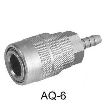 """Levegős gyorscsatlakozó, 1/4"""", US-típus, tömlős vég (AQ-6)"""