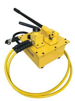 Kettős működésű kézi hajtású tápegység, hidraulikus pumpa (700 Bar - 7000 cm3) (B-7000S)