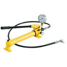 Kézi hajtású tápegység manométerrel, hidraulikus pumpa (700 Bar - 700 cm3) (B-700B)