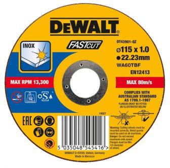 Vágókorong fémre 115mmx3.0mmx22.23mm (DT43910-QZ)