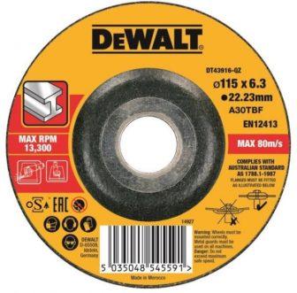 Tisztítókorong fémre 115mmx6.0mmx22.23mm (DT43916-QZ)