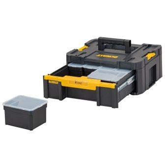 TSTAK III  - Szortimenter beépített fiókos tárolóval 440mmx176mmx314.2mm 9.5L-es (DWST1-70705)