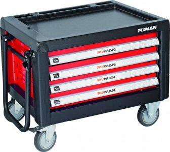 Gurulós szerszámos láda, 3 fiókos, 690×465×545mm, 135kg (FIXMAN FX-C1RP3)