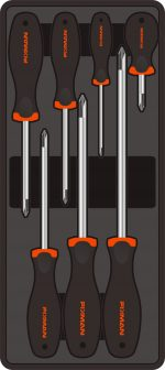 Csavarhúzó készlet, 7 részes, PH, 390x175x50mm (FIXMAN FX-F1.BT26)