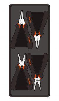 """Zeeger-fogó készlet, 4 részes, 6"""", 390,175x50mm (FIXMAN FX-F1.BT28)"""