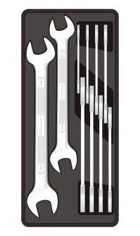 Villáskulcs készlet, 10 részes, 6-32mm, 390x175x50mm (FIXMAN FX-F1.BT32)
