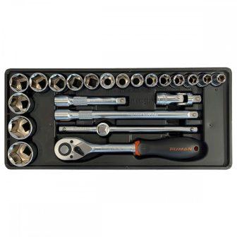 """Fiókbetét, Dugókulcs-készlet, 22 részes, 1/2"""", 390x175x50mm (FIXMAN FX-F1.BT37)"""