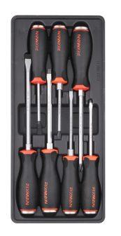 Csavarhúzó készlet, 7 részes, Lapos és Philips, 390x175x50mm (FIXMAN FX-F1.BT53)