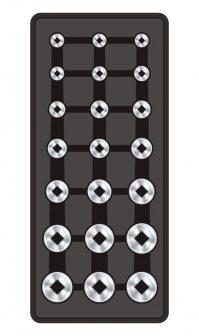 """Fiókbetét, Dugókulcs-készlet, 21 részes, 1/2"""", 390x175x50mm (FIXMAN FX-F1.BT60)"""