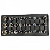 """Fiókbetét, Dugókulcs-bit készlet, 27 részes, 1/2"""", 390x175x50mm (FIXMAN FX-F1.BT61)"""