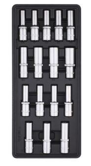 """Fiókbetét, Dugókulcs-készlet, 16 részes, 1/2"""", 390x175x50mm (FIXMAN FX-F1.BT62)"""