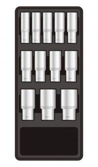 """Fiókbetét, Dugókulcs-készlet, 12 részes, 1/2"""", 390x175x50mm (FIXMAN FX-F1.BT63)"""