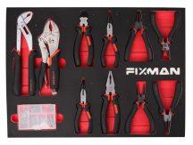 Fiókbetét, fogó készlet, 10 részes, 525x390x35mm (FIXMAN FX-F1.ET04)