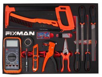Fiókbetét, szerszámkészlet, 14 részes, 525x390x45mm (FIXMAN FX-F1.ET08)