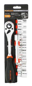 """Dugókulcs készlet 12részes, 1/2""""+racsnis hajtókar, 10-24mm (FIXMAN FX-P4012M)"""