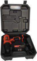 Állítható Akkumulátoros fúró-csavarozó, 12V, 1300mAh, 10mm, 20Nm, kofferben (FIXMAN FX-R7001)