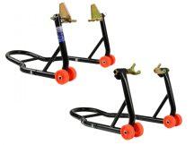 Gurulós, erősített motorkerékpár tartó állvány, első+hátsó 270 kg (GEKO G02167)