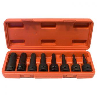 """8db-os Gépi Dugókulcs készlet 1/2"""", Imbusz 5-19mm (JQ-78-12-8SET-HEX)"""
