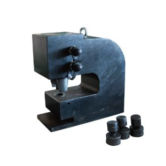 Hidraulikus gyűjtősín lyukasztó, fekete (50 tonna, kettős működésű) (M-80)