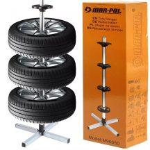 Keréktartó, gumiabroncs és felni állvány, 4 kerékhez 225mm-ig (MAR-POL M90050)